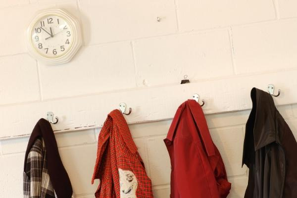 Alternatives to hangers are hooks on the wall