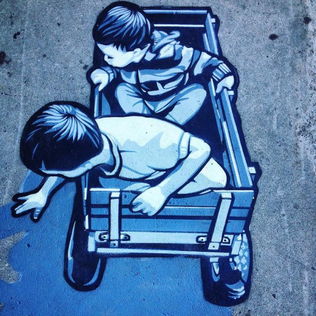 throwbackthursday joeiurato sidewalk piece at Mural Fest   hellip