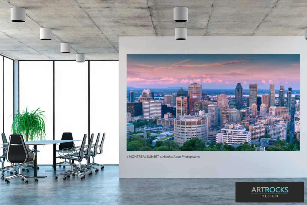 Montreal Sunset by photographer Nicolas Abous, one of the winners of the Art Rocks Design 2018 Contest