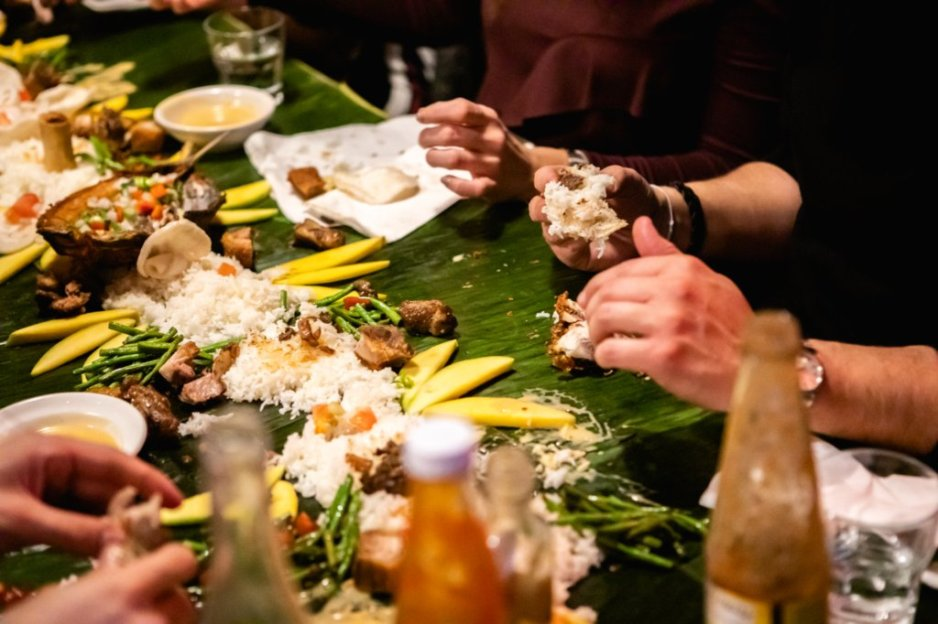 The Eat-With-Your-Hands Kamayan Feast at Junior Filipino Restaurant