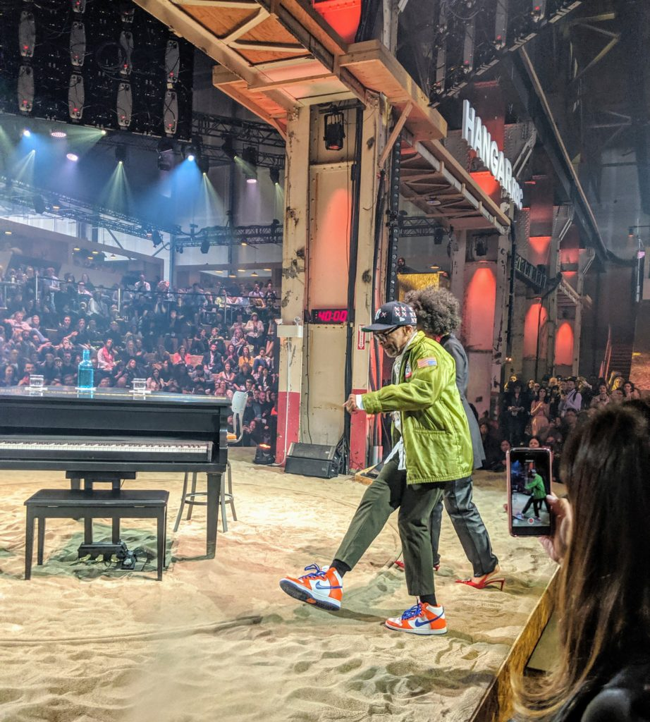 Spike Lee at day 3 of C2Montreal, showing off his dance steps and his new kicks.