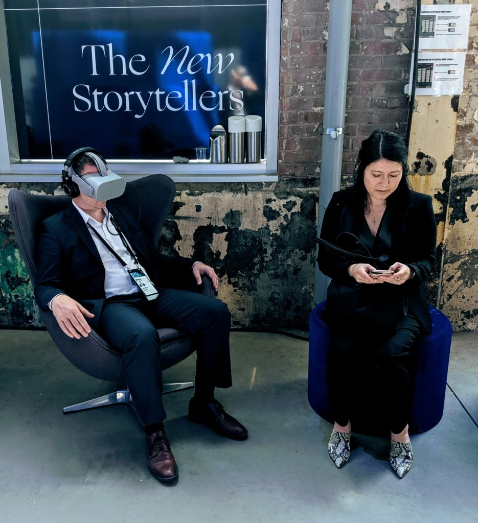 Testing out virtual reality at C2 Montreal 2019, another world to discover!