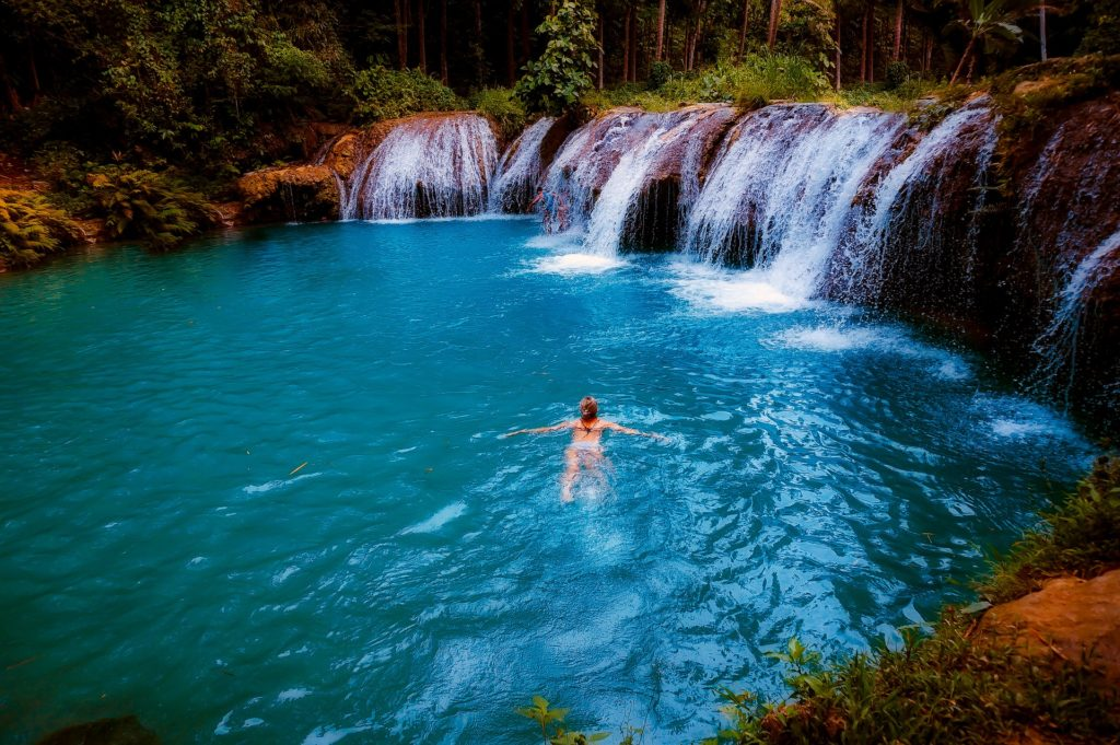 Waterfalls are a great place to immerse in cold water therapy!
