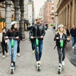 Lime Scooters available in MTL bike sharing system