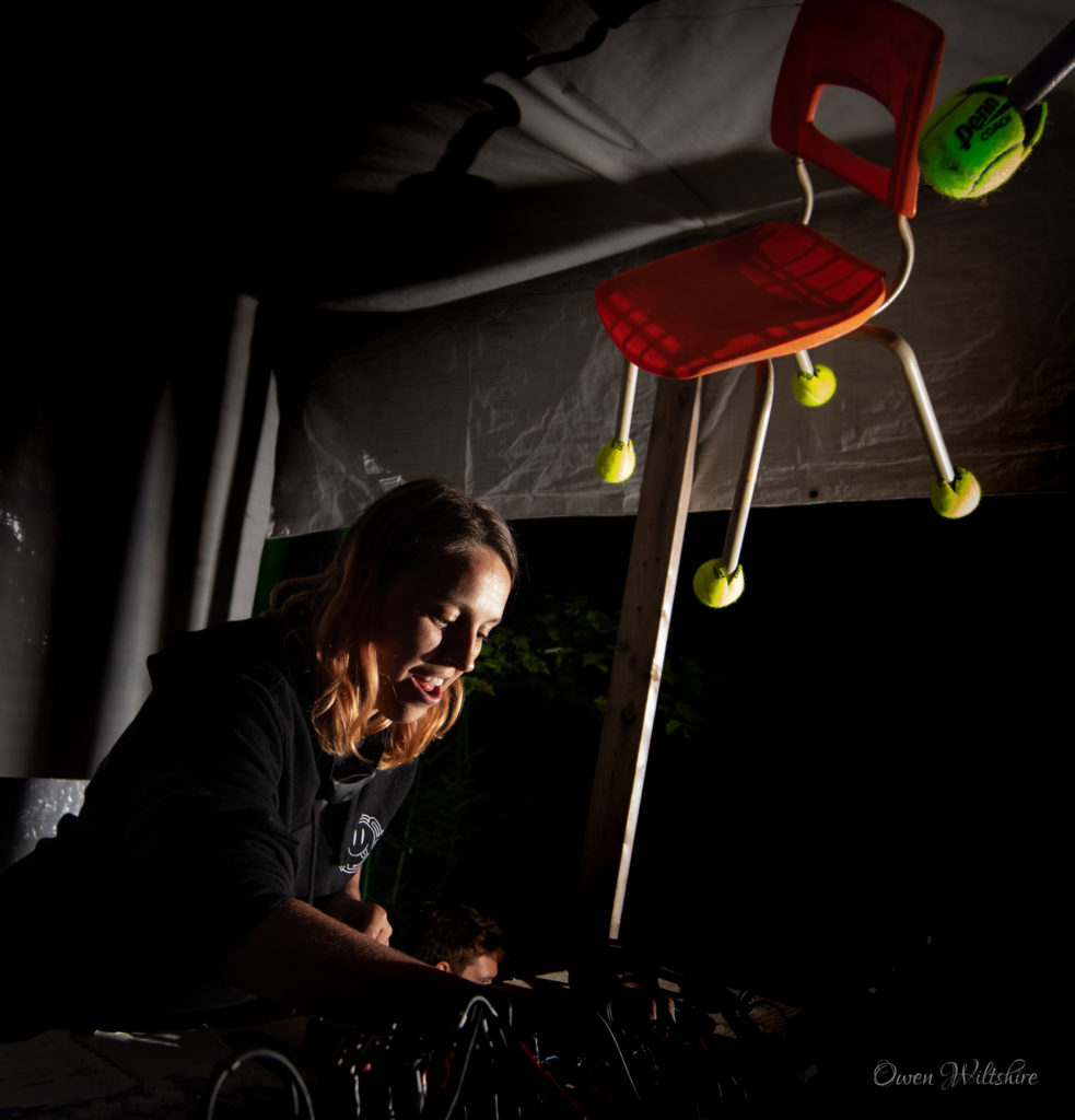 DJ Maline throws out some beats at the Timeless Festival