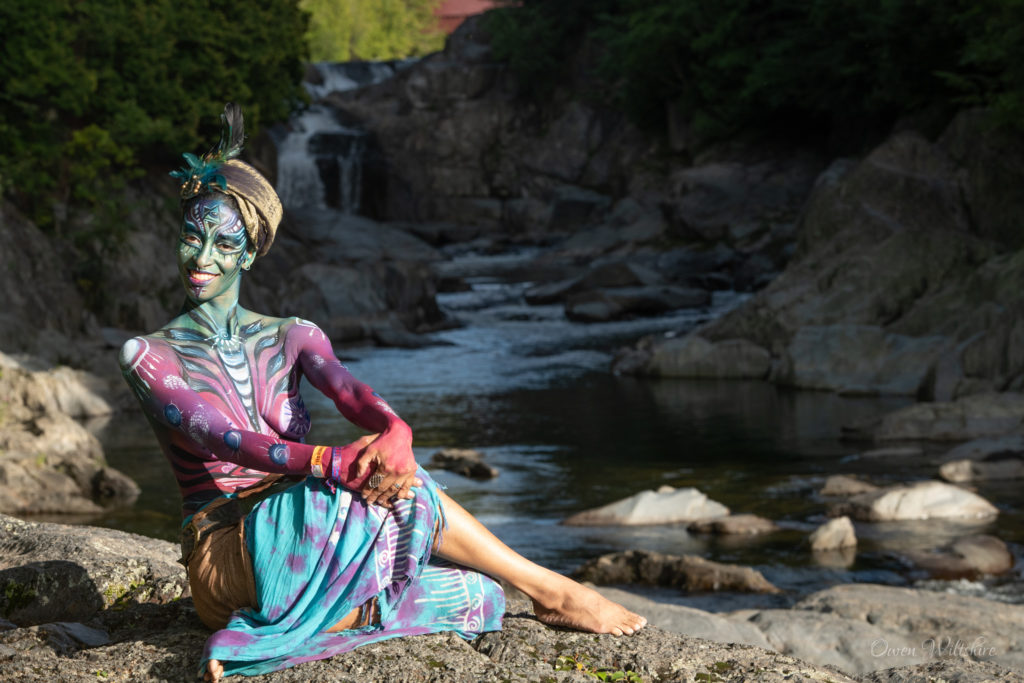 Body painting at the Timeless Festival
